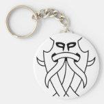 La máscara de Odin tribal (negro resumido) Llavero
