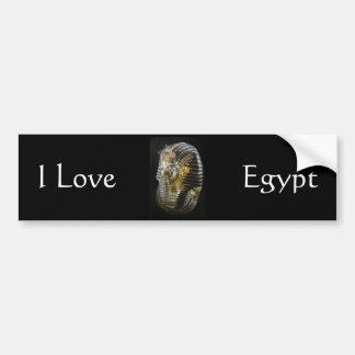 La máscara de oro de Tutankhamon Pegatina De Parachoque
