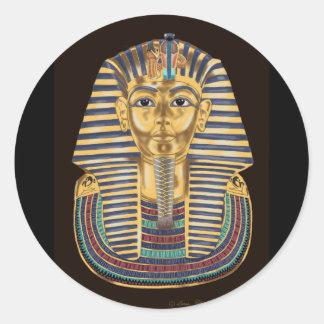 La máscara de oro de Tutankhamon Pegatina Redonda