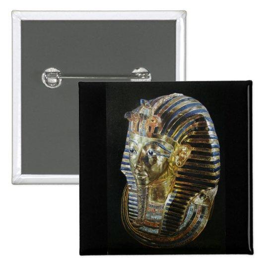 La máscara de oro de Tutankhamon Pin Cuadrado