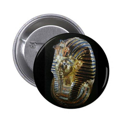 La máscara de oro de Tutankhamon Pin Redondo 5 Cm