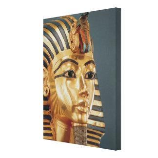 La máscara funeraria de Tutankhamun Impresión En Lona