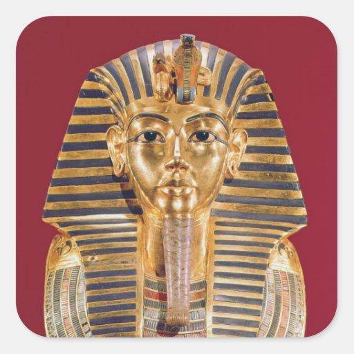 La máscara funeraria de Tutankhamun Calcomania Cuadrada Personalizada