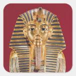 La máscara funeraria de Tutankhamun Pegatina Cuadrada