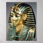 La máscara funeraria del oro, de la tumba de Tutan Poster