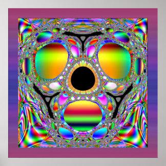 La máscara psicodélica póster