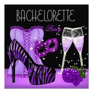 La máscara púrpura del fiesta de Bachelorette calz Comunicado Personal