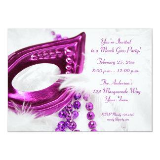 La máscara púrpura gotea la invitación del invitación 12,7 x 17,8 cm