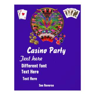 La mascarada 1 de los temas del casino considera flyer a todo color