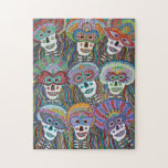 """La Mascarada de los Muertos Jigsaw Puzzle<br><div class=""""desc"""">Jigsaw puzzles featuring the artwork of Erika S. Avery (Avery Studios). This colorful painting is first in a series,  and dedicated to all the good people we have lost. But death is merely an illusion,  the spirit and memories live on.</div>"""