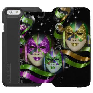 La mascarada enmascara a chicas que el verde funda billetera para iPhone 6 watson