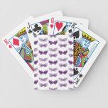 La mascarada púrpura bonita enmascara carnaval barajas de cartas