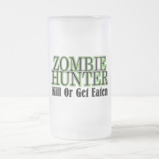 La matanza del cazador del zombi o consigue comida taza de café