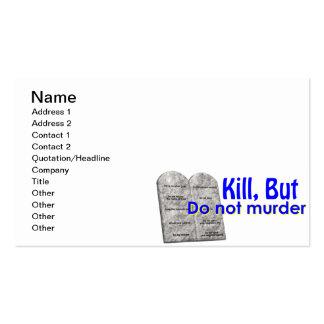 La matanza pero no asesina tarjetas de visita