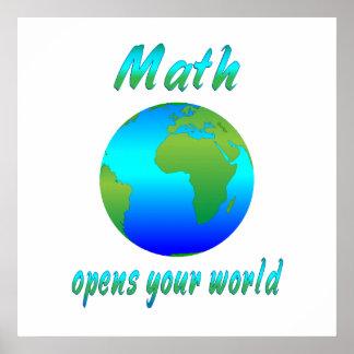 La matemáticas abre los mundos posters