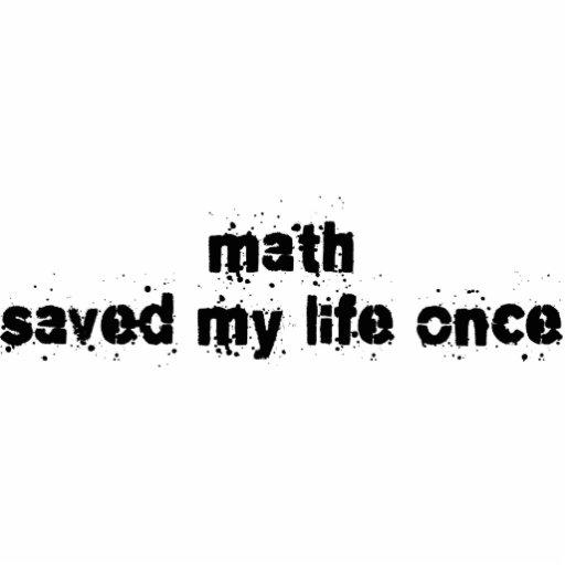 La matemáticas ahorró mi vida una vez esculturas fotograficas