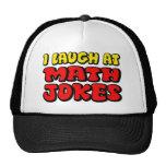 La matemáticas bromea gorra