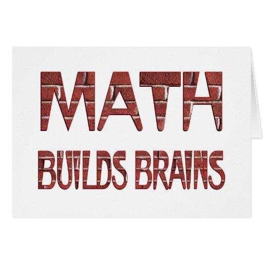 La matemáticas construye cerebros felicitaciones