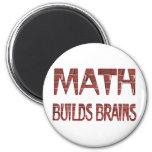 La matemáticas construye cerebros imán de frigorífico