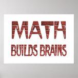 La matemáticas construye cerebros poster