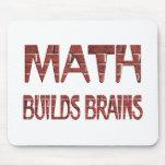 La matemáticas construye cerebros alfombrillas de ratón