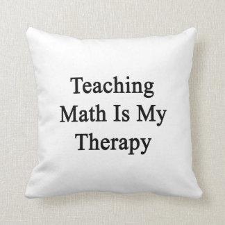 La matemáticas de enseñanza es mi terapia cojines