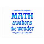 La matemáticas despierta postal
