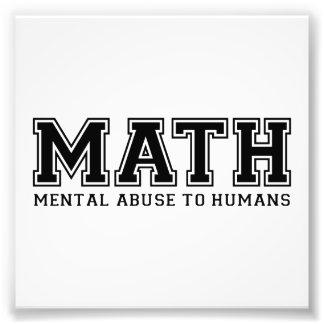 La MATEMÁTICAS es abuso mental a los seres humanos Cojinete