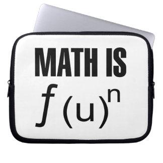 La matemáticas es diversión funda portátil