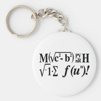 ¡La matemáticas es diversión! Llavero Redondo Tipo Pin