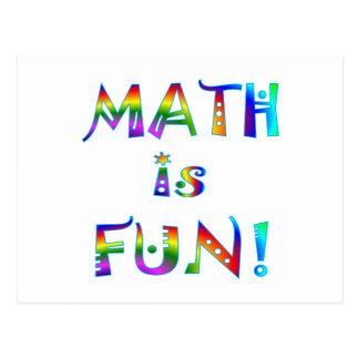 La matemáticas es diversión postales