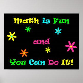 La matemáticas es diversión y usted puede hacerla póster