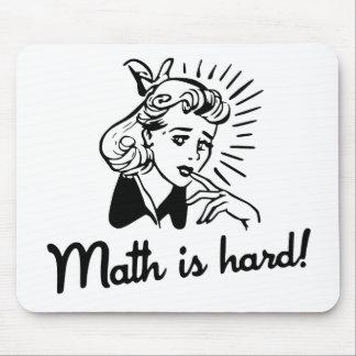La matemáticas es dura mousepad