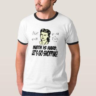 La matemáticas es dura remeras