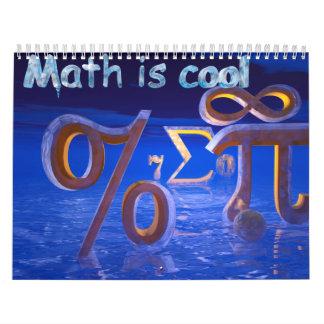 ¡La matemáticas es fresca! Calendarios