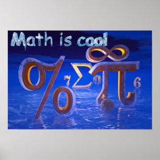 La matemáticas es fresca póster