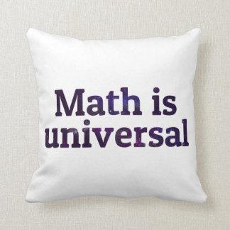 La matemáticas es galaxia universal cojín