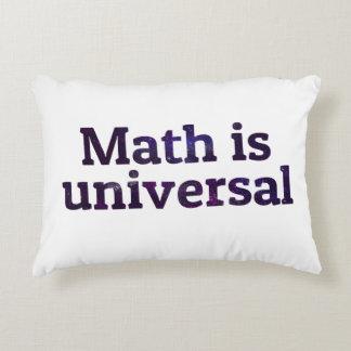La matemáticas es galaxia universal cojín decorativo
