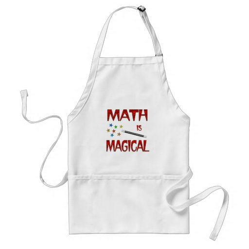 La matemáticas es mágica delantales