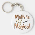 La matemáticas es mágica llaveros personalizados