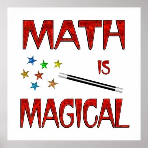 La matemáticas es mágica impresiones