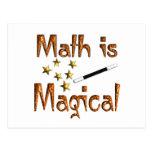 La matemáticas es mágica postal