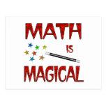 La matemáticas es mágica tarjetas postales