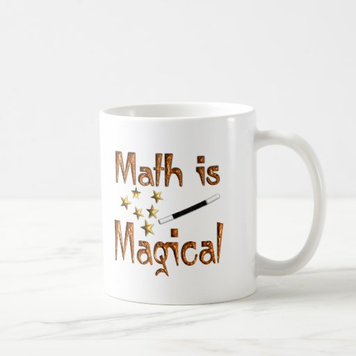 La matemáticas es mágica tazas