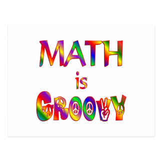 La matemáticas es maravillosa postal