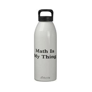 La matemáticas es mi cosa botella de agua reutilizable