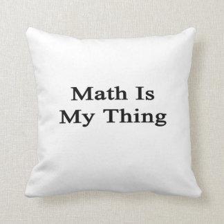 La matemáticas es mi cosa almohada