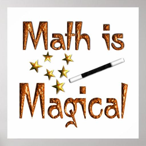 La matemáticas es poster mágico