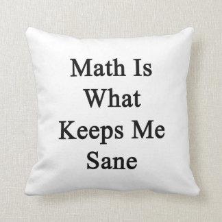 La matemáticas es qué me mantiene sano almohadas