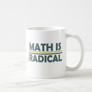 La matemáticas es radical tazas